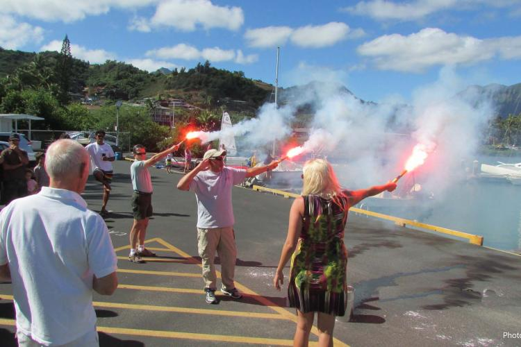 Flare Demonstration -- Photo by Kim Ickler